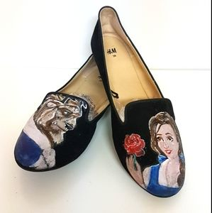 DIY Disney Beauty and the Beast H&M loafters